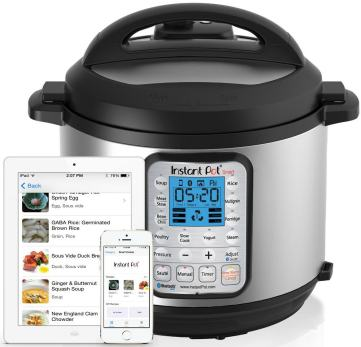 Instant Pot SMART App works with ipad, iphone and (soon) Android