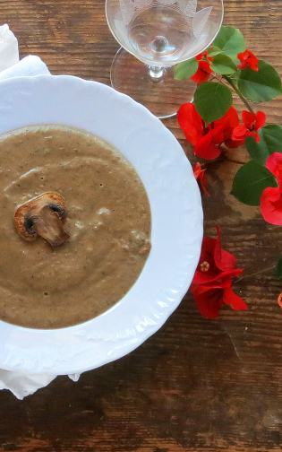 Pressure Cooker Cream of Mushroom Soup