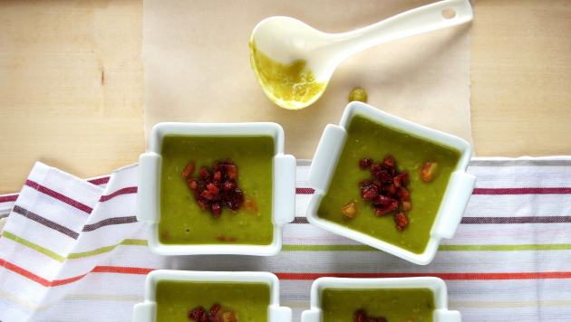 Pressure Cooker Split Pea & Bacon Soup