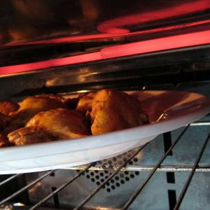 Meanwhile, broil pressure cooked chicken.