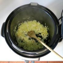 Saute' onion until soft.