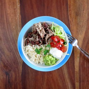Pressure Cooker Chicken Burrito Bowl