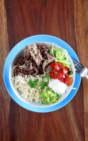 Pressure Cooker Burrito Bowl Recipe