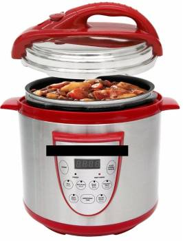 This is a multi-cooker marketing photo, it is not a filling guideline or suggestion.