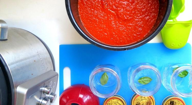 Pressure Cookere Large Batch Tomato Sauce