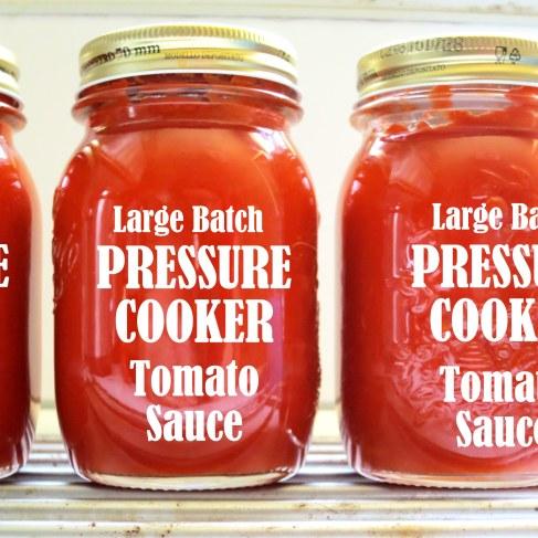 Pressure Cooker Italian Tomato Sauce Recipe