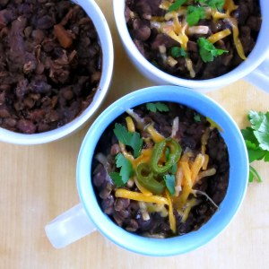 Black Bean & Lentil Chili – pressure cooker recipe