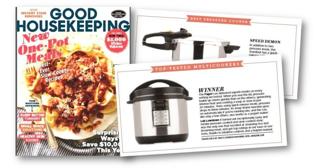 Good Housekeeping Magazine names Fagor Multi and Pressure Cookers winners