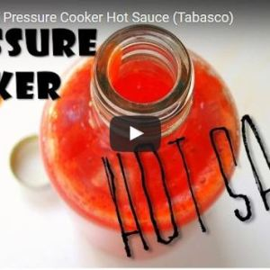 New Video: Instant Pressure Cooker Hot Sauce!