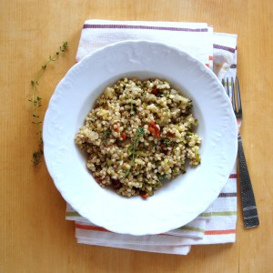 VIDEO: Zucchini & Sun-dried Tomato Sorgotto (Sorghum Risotto)