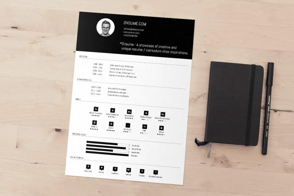 9  free minimal resume templates