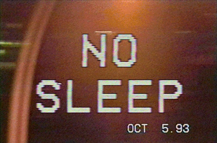 No Sleep VHS VCR 80's Fonts