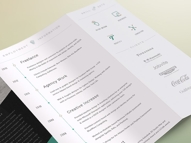 simkolev 2014 cv dribbble resume designs