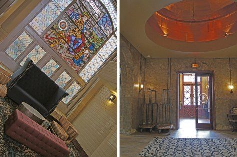 Stained Glass and Copper Kettles at Brewhouse Inn and Suites
