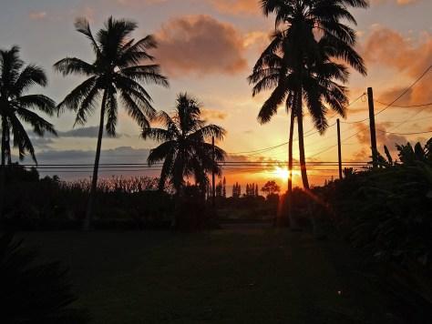 Sunset from Hale Ulu Lulu - Vacation rental Hana, Maui