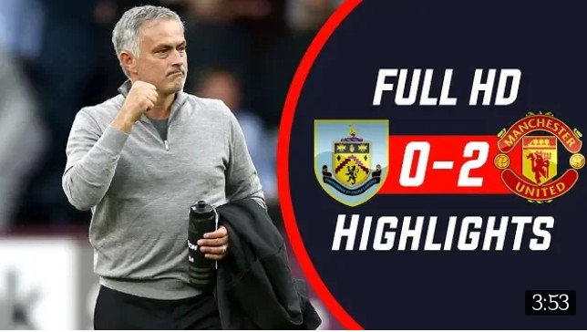 Burnley Vs Manchester United 0-2 All Goals Highlights