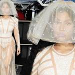 """Nicki Minaj Wears Extravagant Bridal Outfit Inspired By A """"Victorian Hovercraft"""""""