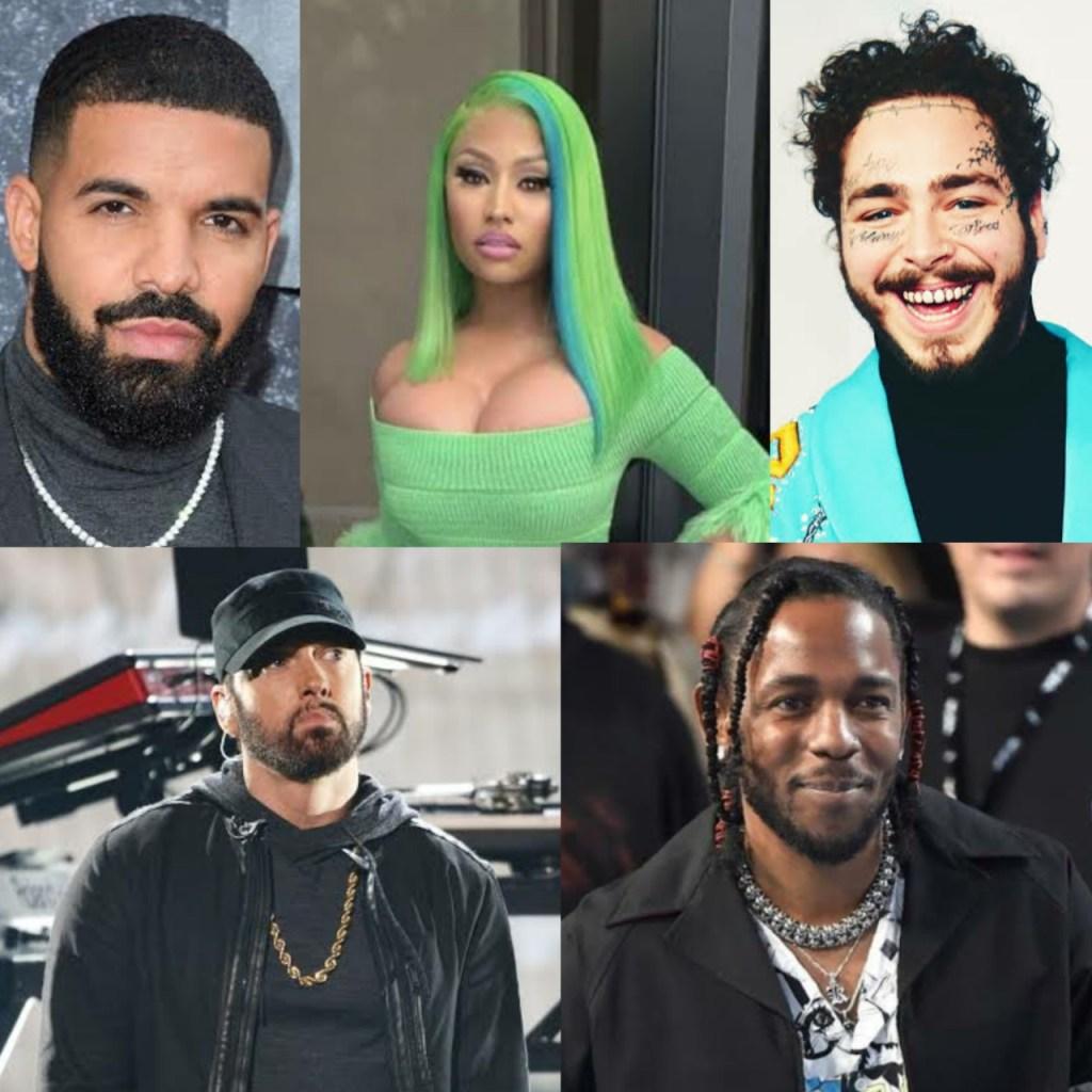 TOP 5 HIP HOP AMERICAN MUSIC ARTISTE
