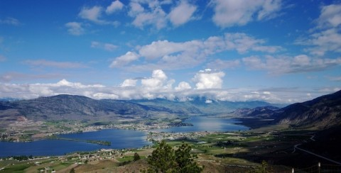 South Okanagan, including the proposed Golden Mile Bench, from Anarchist Mtn., Tim Pawsey photo