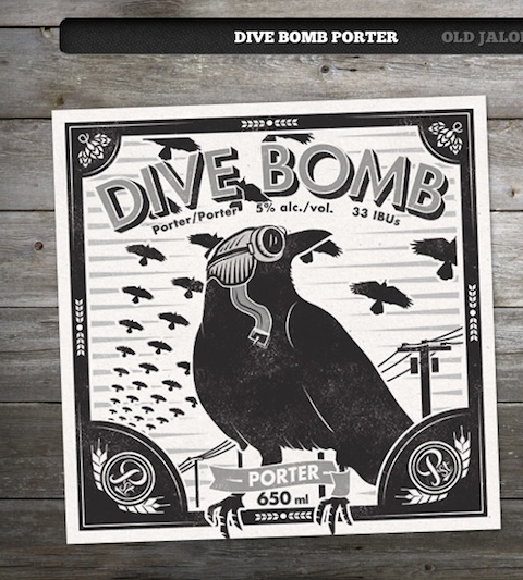 Wagon Rouge serves Powell St Dive Bomb Porter