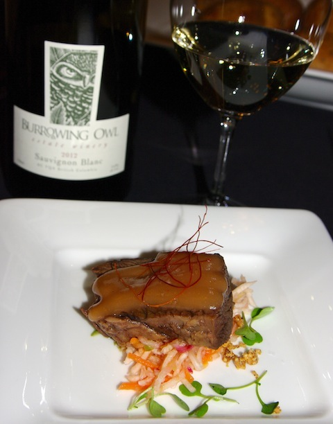 Sonora Room's Star anise braised short rib, celery root and local apple slaw