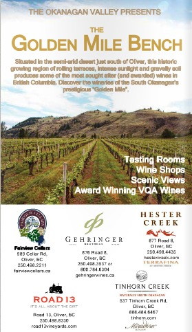 Last year's independently published 'Official Wine Tour Handbook' included this ad for the Golden Mile Bench