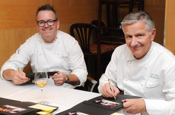 Rob Feenie and one-time mentor Michel Jacob (courtesy le Crocodile)