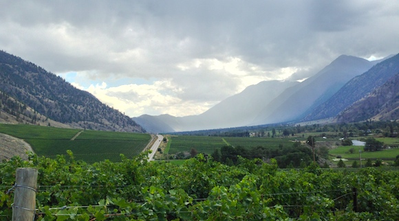 Similkameen Valley, looking east from Vanessa Vineyard (Howard Soon photo)