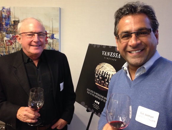 Vanessa Vineyard owners John Welson (l) and Suki Sekhon