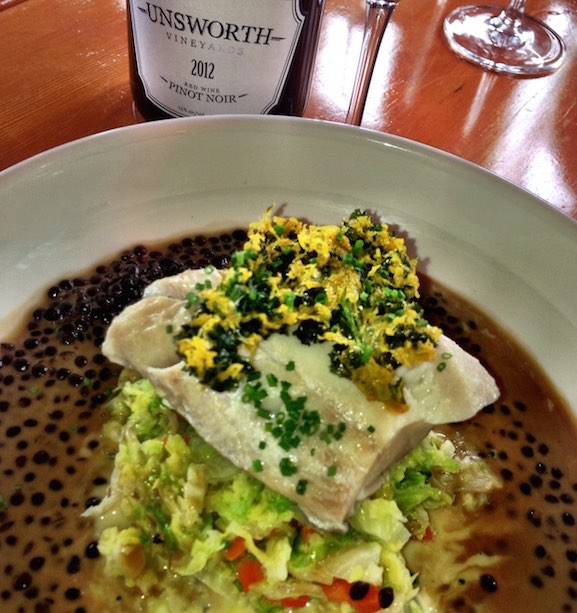 Superb sable fish and lentils