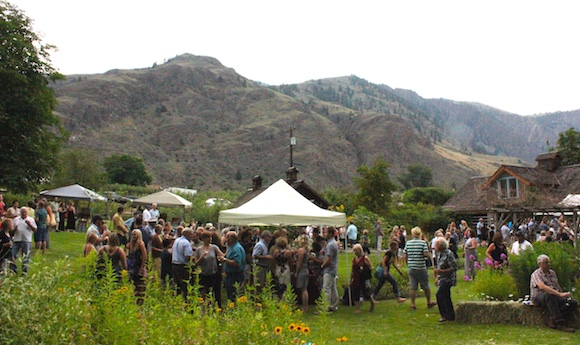 Similkameen BBQ King is held against a stunning backdrop, in the grounds of the heritage Grist Mill (supplied)