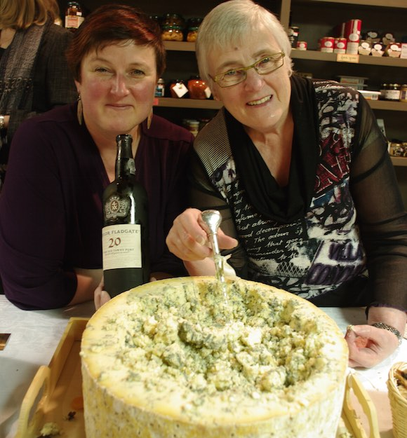 Alice Spurrell (rt.) hands over the reins of Les Amis du Fromage to daughter Allison (l.)  Tim Pawsey photo