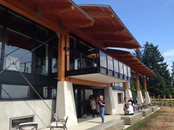 The new Blue Grouse winery south terrace: impressive from every angle