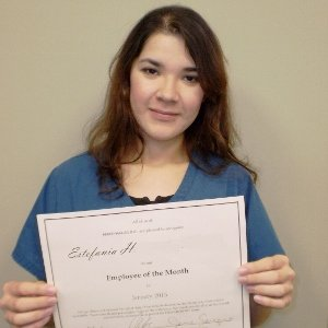 Thank You Estefania! Caregiver of the Month Jan. 2015