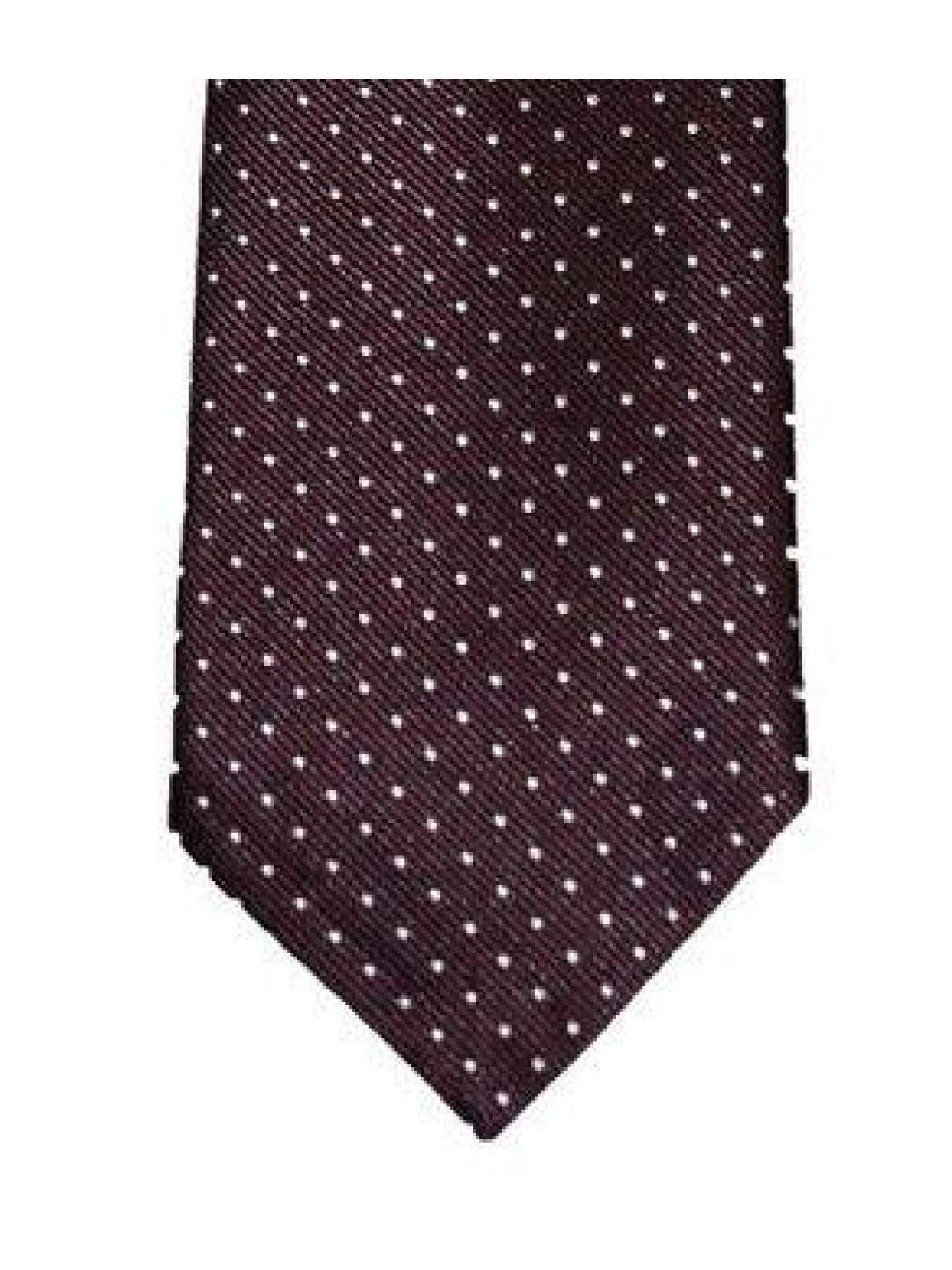 Burgundy White Polka Dot Tie Set - Accessories