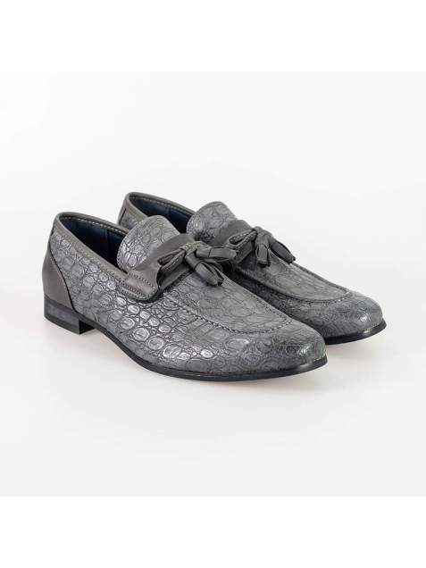 Cavani Brindisi Grey Mens Shoe - Shoes