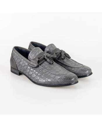 Cavani Brindisi Grey Mens Shoe - Shoes