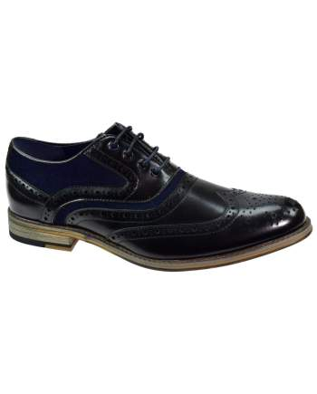 Cavani Ethan Black Mens Leather Shoes - UK7 | EU41 - Shoes