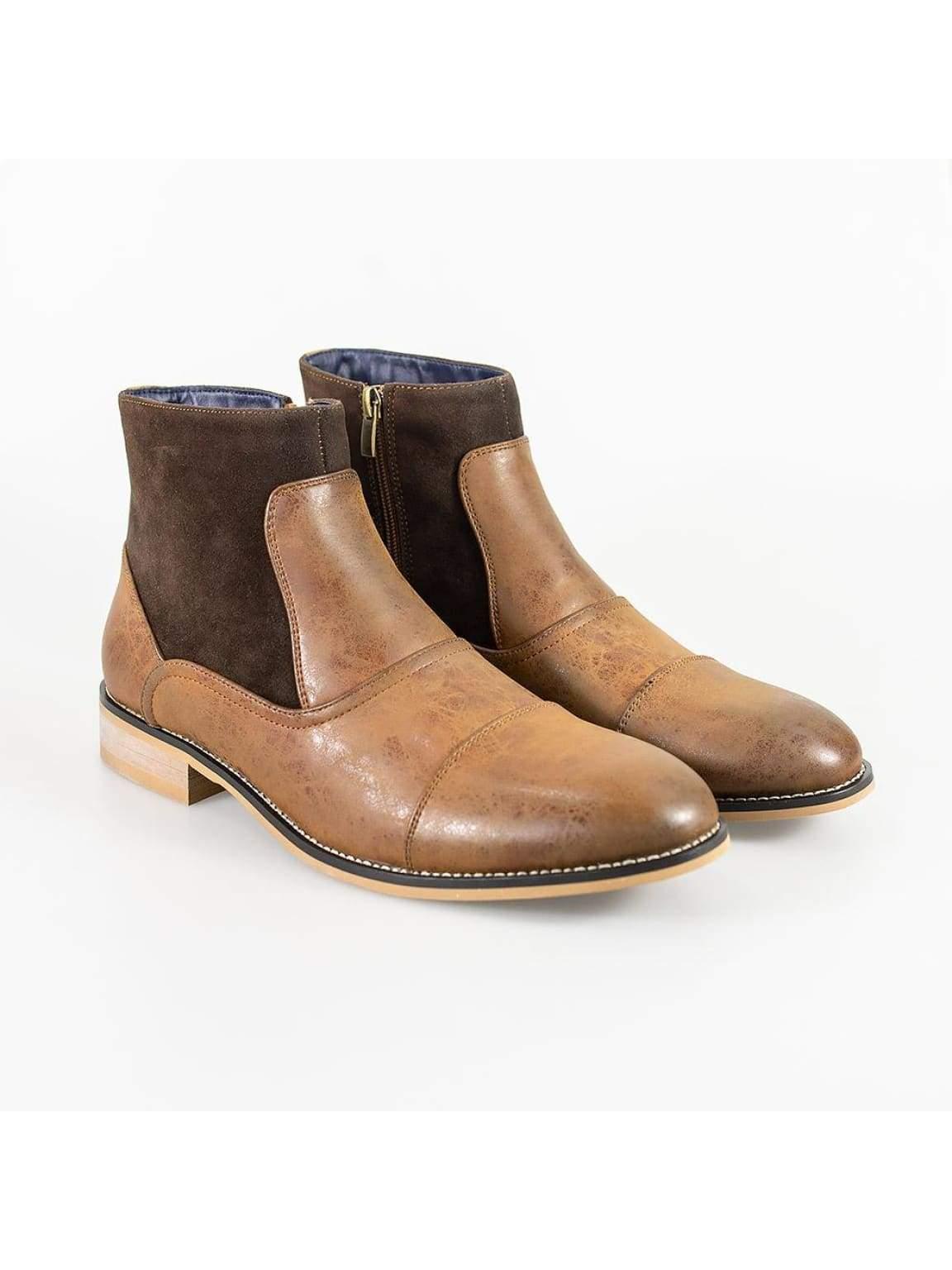 Cavani Halifax Brown Mens Leather Boots - UK6 | EU41 - Boots