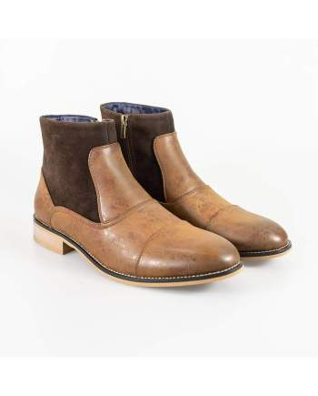 Cavani Halifax Brown Mens Leather Boots - UK6 | EU41 - Boots