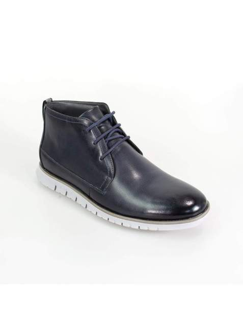 Cavani Napal Navy Mens Leather Boots - UK7 | EU41 - Boots