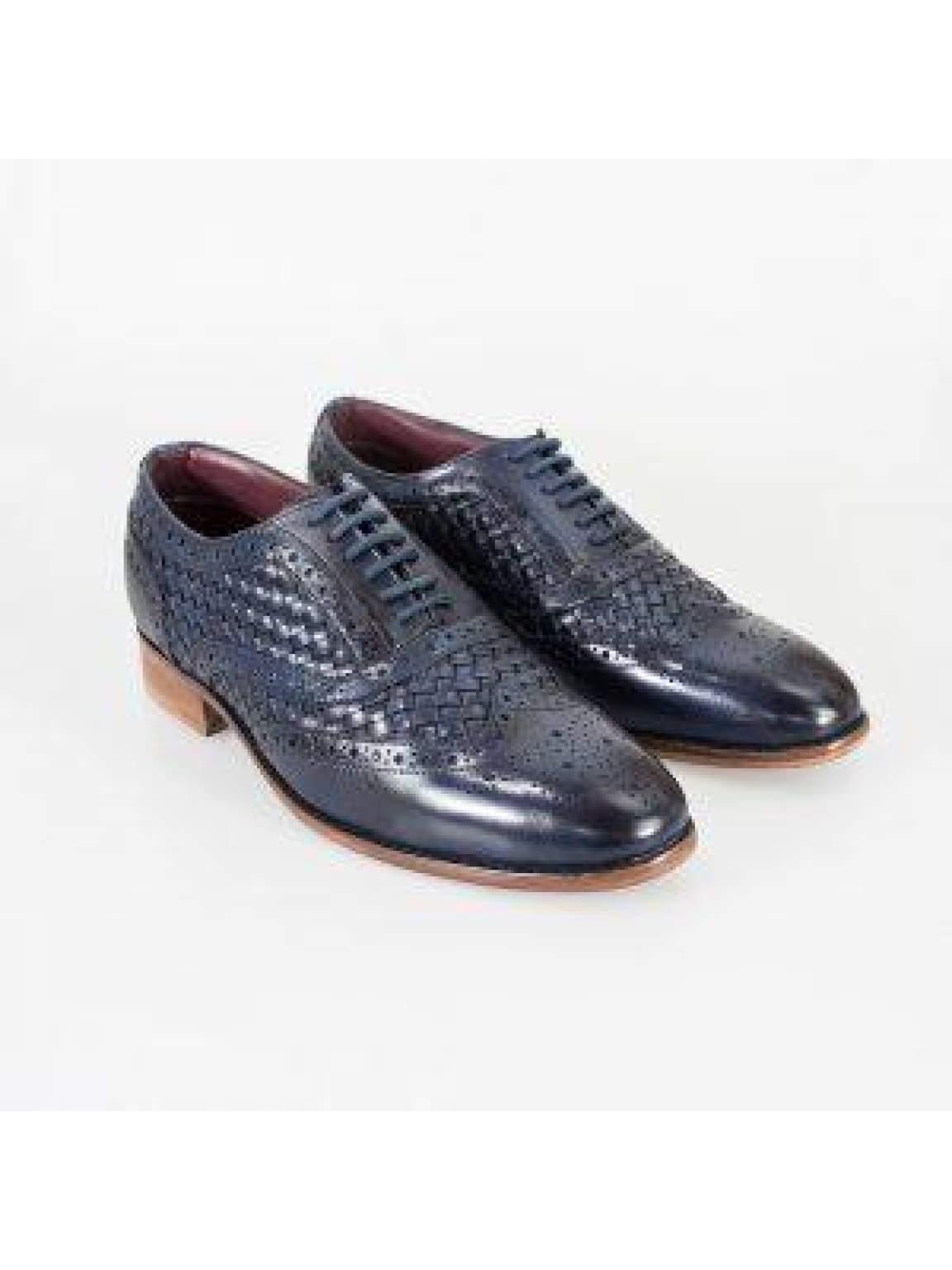 Cavani Orion Navy Mens Leather Shoes - UK7 | EU41 - Shoes