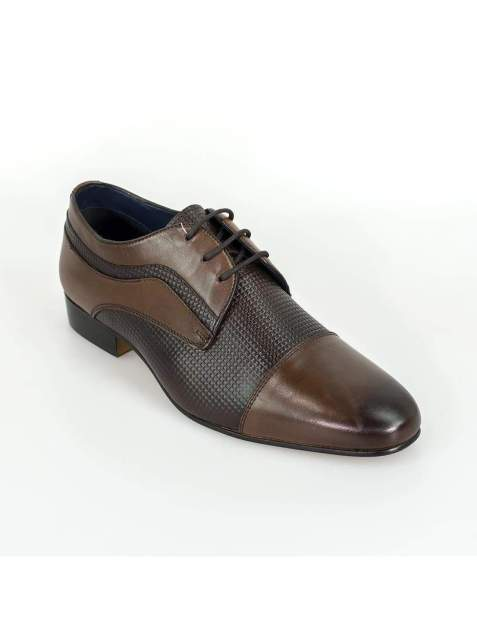 Cavani Ryan Brown Mens Leather Shoes - Shoes