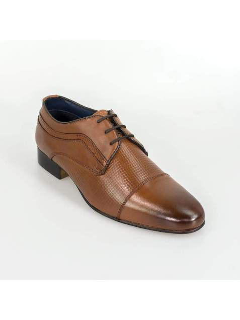 Cavani Ryan Tan Mens Leather Shoes - Shoes