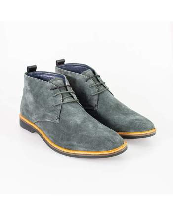 Cavani Sahara Grey Mens Leather Boots - UK7 | EU41 - Boots