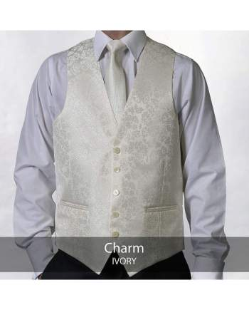Heirloom Charm Ivory Luxury 100% Wool Tweed Waistcoat - 34R - WAISTCOATS