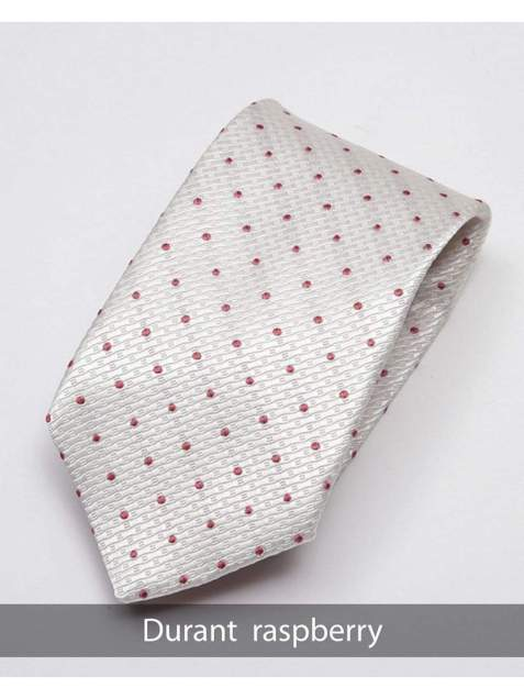 Heirloom Durant Mens Raspberry Dotted Tie - Accessories