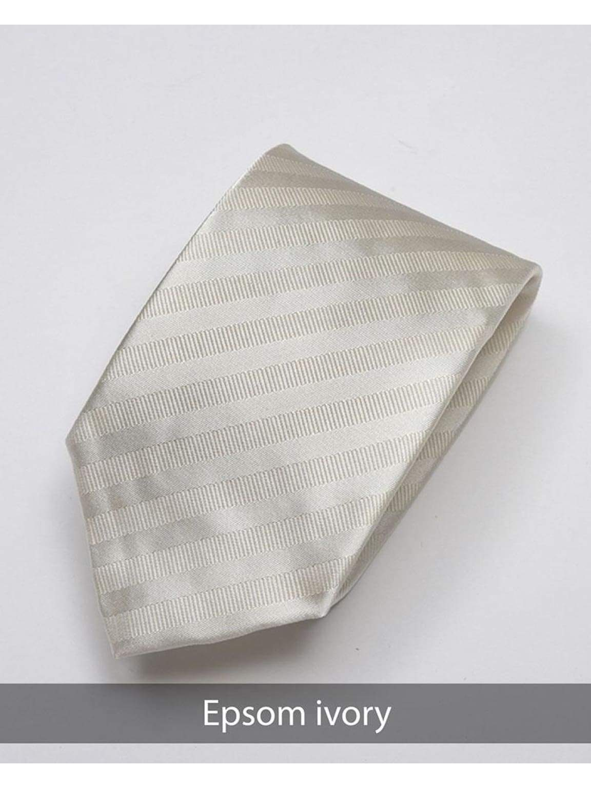 Heirloom Epsom Mens Ivory Stripped Tie - Accessories