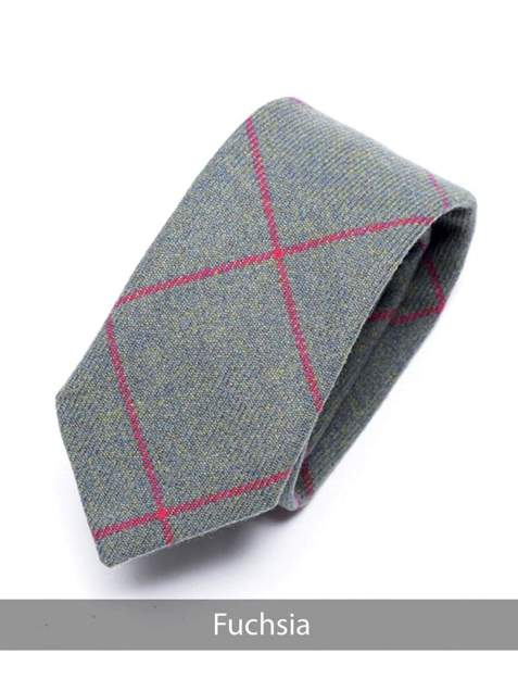 Heirloom Fuchsia Mens Checked Tie - Accessories
