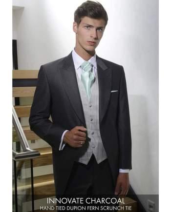 Heirloom Innovate Mens Charcoal Luxury Waistcoat - 34R - WAISTCOATS